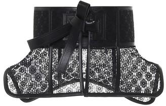 Loewe Obi lace-trimmed leather corset belt