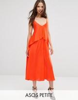 Asos Tiered Crop Cami Midi Dress
