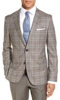 BOSS 'Jeen' Trim Fit Plaid Wool Sport Coat