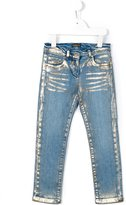 Roberto Cavalli metallic print jeans - kids - Cotton/Spandex/Elastane - 6 yrs