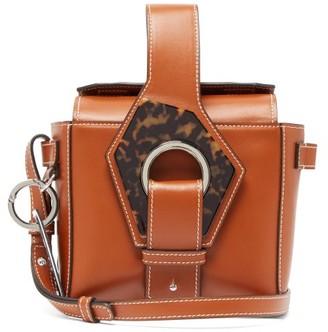 Ganni Smooth-leather Box Bag - Womens - Tan