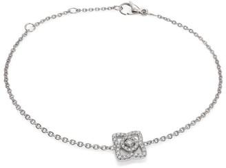 De Beers Enchanted Lotus Diamond & 18K White Gold Chain Bracelet