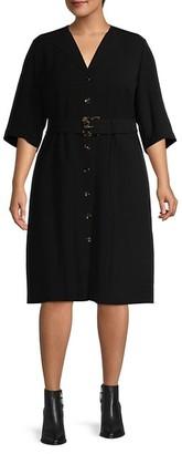 Lafayette 148 New York, Plus Size Finesse Crepe Wolfe Dress
