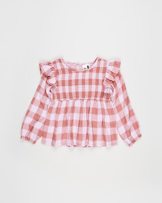 Cotton On Girl's Pink Long Sleeve Tops - Jaki Fashion LS Top - Kids - Size 3 YRS at The Iconic