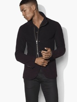 John Varvatos Convertible Funnel Collar Jacket