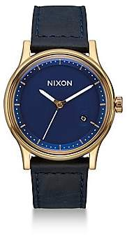 Nixon Men's Station Tapered Leather Strap Watch