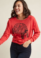 We Shell See Graphic Pullover in XL - Long Sleeve Sweatshirt Short Length by Supermaggie from ModCloth