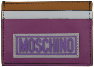 Moschino Multicolor Fantasy Print Card Holder