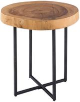 Bed Bath & Beyond Robin Raw Wood Table with Metal Base