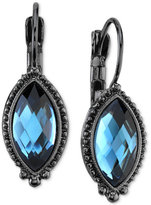 2028 Hematite-Tone & Blue Faceted Stone Drop Earrings, a Macy's Exclusive Style