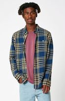Obey Laporte Plaid Flannel Long Sleeve Button Up Shirt
