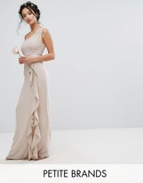 TFNC Petite Wedding One Shoulder Maxi Dress With Frill Detail