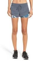 Zella Women's 'Twice As Nice' Layered Shorts
