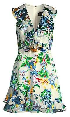 Saloni Women's Cece Ruffle Floral Mini Dress
