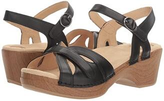 Dansko Season (Black Full Grain) Women's Shoes