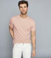 Reiss BLESS REGULAR FIT CREW NECK T-SHIRT Blush