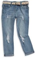 Vigoss Girls 2-6x Little Girls Belted Skinny Jeans