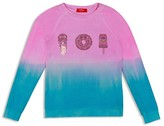 Butter Shoes Girls' Dip Dyed Sugar Rush Embellished Fleece Pullover - Sizes S-XL