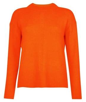 Dorothy Perkins Womens Orange Spandex Step Hem Jumper, Orange