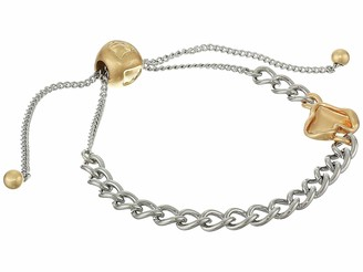 Rebecca Minkoff Organic Metal Pull Bracelet Gold/Silver One Size