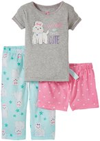 Carter's 3 Piece PJ Set (Baby) - Gray heather-12 Months