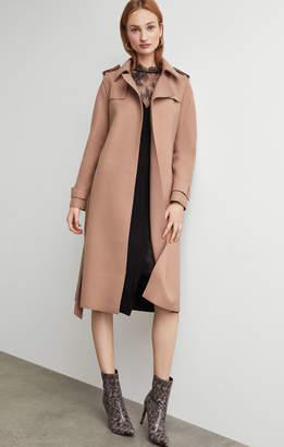 BCBGMAXAZRIA Wool Trench Coat