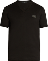 Dolce & Gabbana V-neck cotton-jersey T-shirt