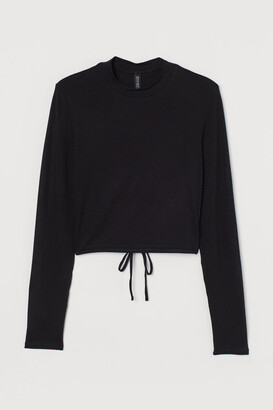 H&M Open-backed Top - Black