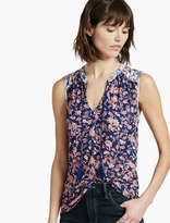Lucky Brand Mixed Floral Shell Top