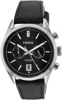 Fossil Men's CH2972 Del Rey Stainless Steel Watch with Leather Band