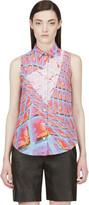 Peter Pilotto Pink Silk Graphic Print Blouse