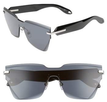 Givenchy 55mm Rimless Shield Sunglasses