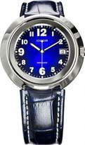 Jowissa Women's J7.013.L Pegasus Stainless Steel Blue Dial Genuine Leather Date Watch
