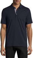 Michael Kors Knit Short-Sleeve Polo Shirt, Dark Blue