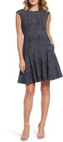 Eliza J Petite Women's Tweed Fit & Flare Dress