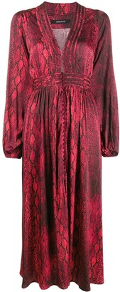 Andamane snakeskin print midi dress