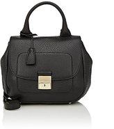 Trussardi WOMEN'S FLAP-FRONT SHOULDER BAG-BLACK