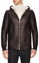 Rick Owens Hooded Leather Jacket