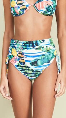 Red Carter Laith High Waist Bikini Bottoms