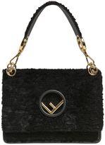 Fendi Medium Kan I Velvet Shoulder Bag