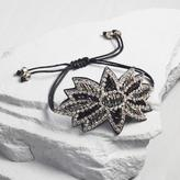 Black Flower Beaded Friendship Bracelet