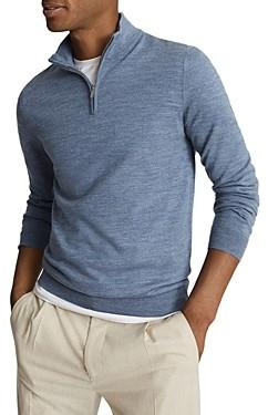 Reiss Blackhall Merino Wool Half Zip Sweater
