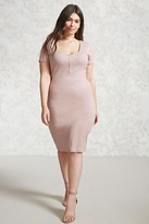 Forever 21 Plus Size Bodycon Henley Dress
