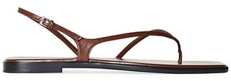The Row Constance Flat Leather Sandals
