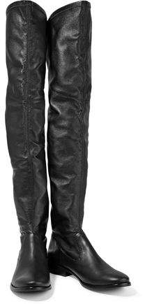 Schutz Solomann Leather Over-The-Knee Boots