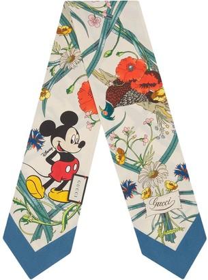 Gucci x Disney floral-print scarf