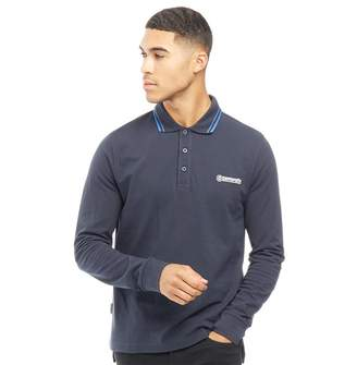 Lambretta Mens Long Sleeve Polo Navy