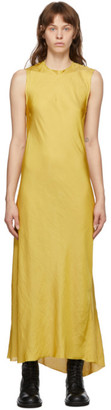 Ann Demeulemeester SSENSE Exclusive Yellow Keyhole Dress