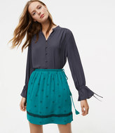 LOFT Bloom Side Tie Skirt