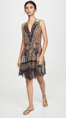 Camilla Short Dress with Shaped Waistband